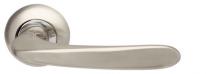 Ручка дверная на круглой розетке Armadillo Pava Ld42-1Sn/Cp-3 Никель матовый/Хром