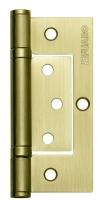 Петля универсальная без врезки Fuaro 300-2Bb/Bl 100х2,5 Sb (Золото матовое) Блистер