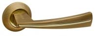 Ручка дверная на круглой розетке Fuaro Sound Rm Ab/Gp-7, Бронза/Золото