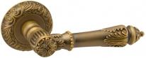 Ручка дверная на круглой розетке Fuaro Imperia Sm Ab-7 Бронза матовая