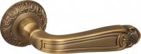 Ручка дверная на круглой розетке Fuaro Louvre Sm Ab-7 Бронза матовая