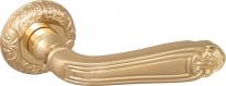 Ручка дверная на круглой розетке Fuaro Louvre Sm Gold-24 Золото 24К