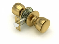Ручка дверная кноб Fuaro 591 Sb-P (Золото матовое) Без фиксатора