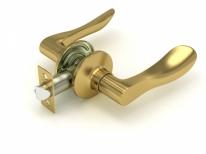 Ручка дверная кноб Fuaro 891 Sb-P (Золото матовое) Без фиксатора