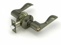 Ручка дверная кноб Fuaro 892 Ab-E (Бронза) Ключ/Фиксатор