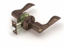 Ручка дверная кноб Fuaro 892 Ac-E (Медь) Ключ/Фиксатор