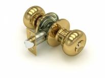 Ручка дверная кноб Fuaro 682 Pb-E (Золото) Ключ/Фиксатор