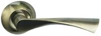Ручка дверная на круглой розетке Bussare Classico A-01-10, Бронза античная