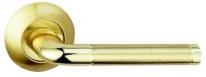 Ручка дверная на круглой розетке Bussare Lindo A-34-10, Золото/Золото матовое