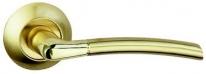 Ручка дверная на круглой розетке Bussare Fino A-13-10, Золото/Золото матовое