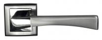 Ручка дверная на квадратной розетке Bussare Stricto A-16-30, Хром/Хром матовый