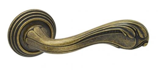 Ручка дверная на круглой розетке Adden Bau Vintage Fabio V210, Бронза состаренная