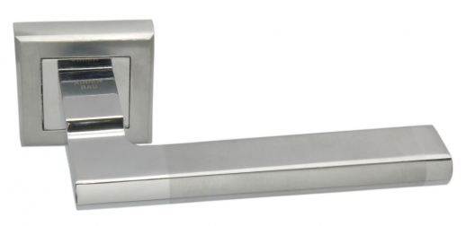 Ручка дверная на квадратной розетке Adden Bau Quadro Piana Q307 Satin Chrome, Хром