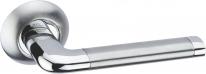 Ручка дверная на круглой розетке Adden Bau Absolut Rush A117, Хром