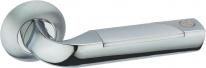 Ручка дверная на круглой розетке Adden Bau Absolut Rune A156-05, Хром
