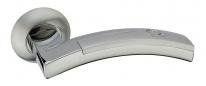 Ручка дверная на круглой розетке Adden Bau Absolut Art A154-05, Хром.