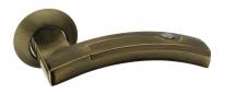 Ручка дверная на круглой розетке Adden Bau Absolut Art A154-05, Бронза.
