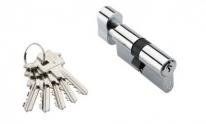 Цилиндровый механизм Adden Bau Cyl 5-60 Knob Chrome, Хром; Ключ-Вертушка