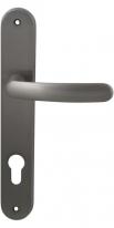 Ручка дверная на планке под цилиндр Mbc Elba Никель матовый
