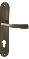 Ручка дверная на планке под цилиндр Mbc Ghibli Бронза