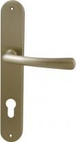 Ручка дверная на планке под цилиндр Mbc Ghibli Золото матовое