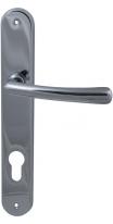 Ручка дверная на планке под цилиндр Mbc Ghibli Хром