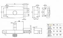 Замок накладной Kale-Kilit 157/Bt (10) Вертушка