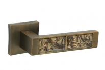 """Ручка дверная на квадратной розетке Oro&Oro """"921-13"""", Кофе Tiger"""