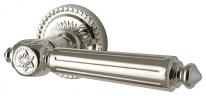 Ручка дверная на круглой розетке Armadillo Matador Cl4-Silver-925 Серебро 925