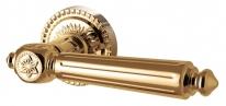 Ручка дверная на круглой розетке Armadillo Matador Cl4-Gold-24 Золото 24К