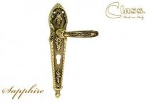 Ручка дверная на планке под цилиндр Class 1040 Sapphire Cyl Латунь старинная  + Коричневый