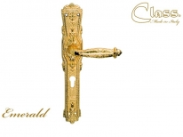 Ручка дверная на планке под цилиндр Class 1070 Emerald Cyl Золото 24 К