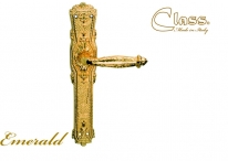 Ручка дверная на планке пустышка Class 1070 Emerald Pass Золото 24 К