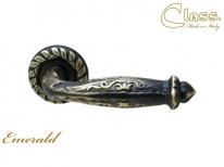 Ручка дверная на круглой розетке Class 1075 Emerald Rose 60 Mm Затемненная бронза