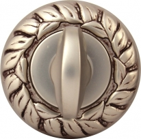 Дверная Завертка Rose 60 Mm Старинное Серебро Мат+Корич