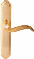 Ручка дверная на планке пустышка Forme Gp510 Como Pass Золото 24К + Swarovski
