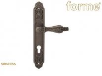 Ручка дверная на планке под цилиндр Forme Gp900 Siracusa Cyl Серебро античное