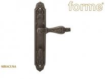 Ручка дверная на планке с фиксатором Forme Gp900 Siracusa Wc Серебро античное