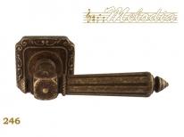 Ручка дверная на квадратной розетке Melodia 50Q Nike246Q Бронза античная