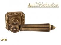 Ручка дверная на квадратной розетке Melodia Nike 246Q Бронза матовая