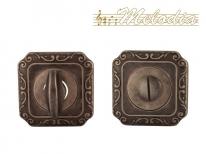 Дверная завертка Melodia Wc на квадраной розетке Q Античное серебро