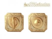 Дверная завертка Melodia Wc на квадраной розетке Q Полированная латунь