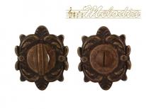 Дверная завертка Melodia Wc на овальной розетке Z Античная бронза