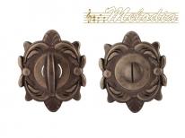 Дверная завертка Melodia Wc на овальной розетке Z Античное серебро