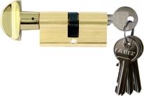 Цилиндр Melodia 60 30/30 Wc Ключ-Вертушка 5 Ключей Полированная Латунь