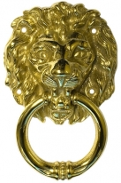 Дверная стучалка Pasini Lion Knocker Olv Латунь