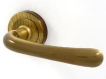 Ручка дверная на круглой розетке Pasini Gamma Бронза