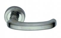 Ручка дверная на круглой розетке Pasini 3271 PIATTA CR SAT Хром матовый