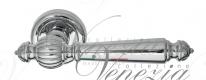 Ручка дверная на круглой розетке Venezia Pellestrina D1 Хром полированный