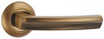 Ручка дверная на круглой розетке Punto Alfa Tl Cfb-18 Кофе Глянец